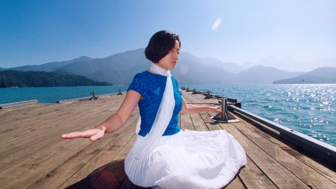 "Sitting in a state of deep tranquility is part of Falun Gong's sitting meditation, ""Strengthening divine powers."" (Faluninfo.net)"