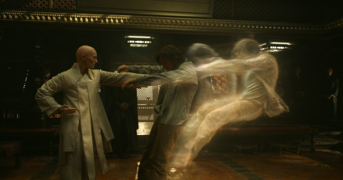 (L–R) The Ancient One (Tilda Swinton) and Doctor Stephen Strange (Benedict Cumberbatch) (Film Frame/Marvel)